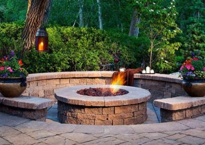 Calgary Fire Pit Construction